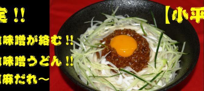 【小平店限定】冷やし肉味噌うどん